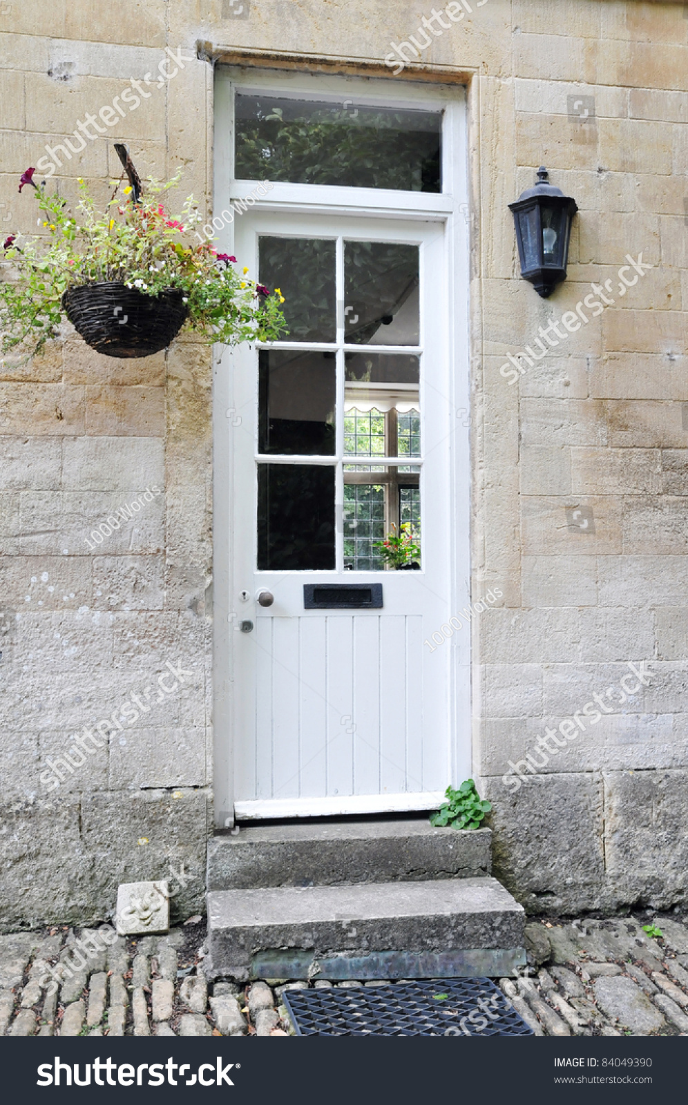 Front door of an old english cottage - Front Door Of An Old English Cottage House