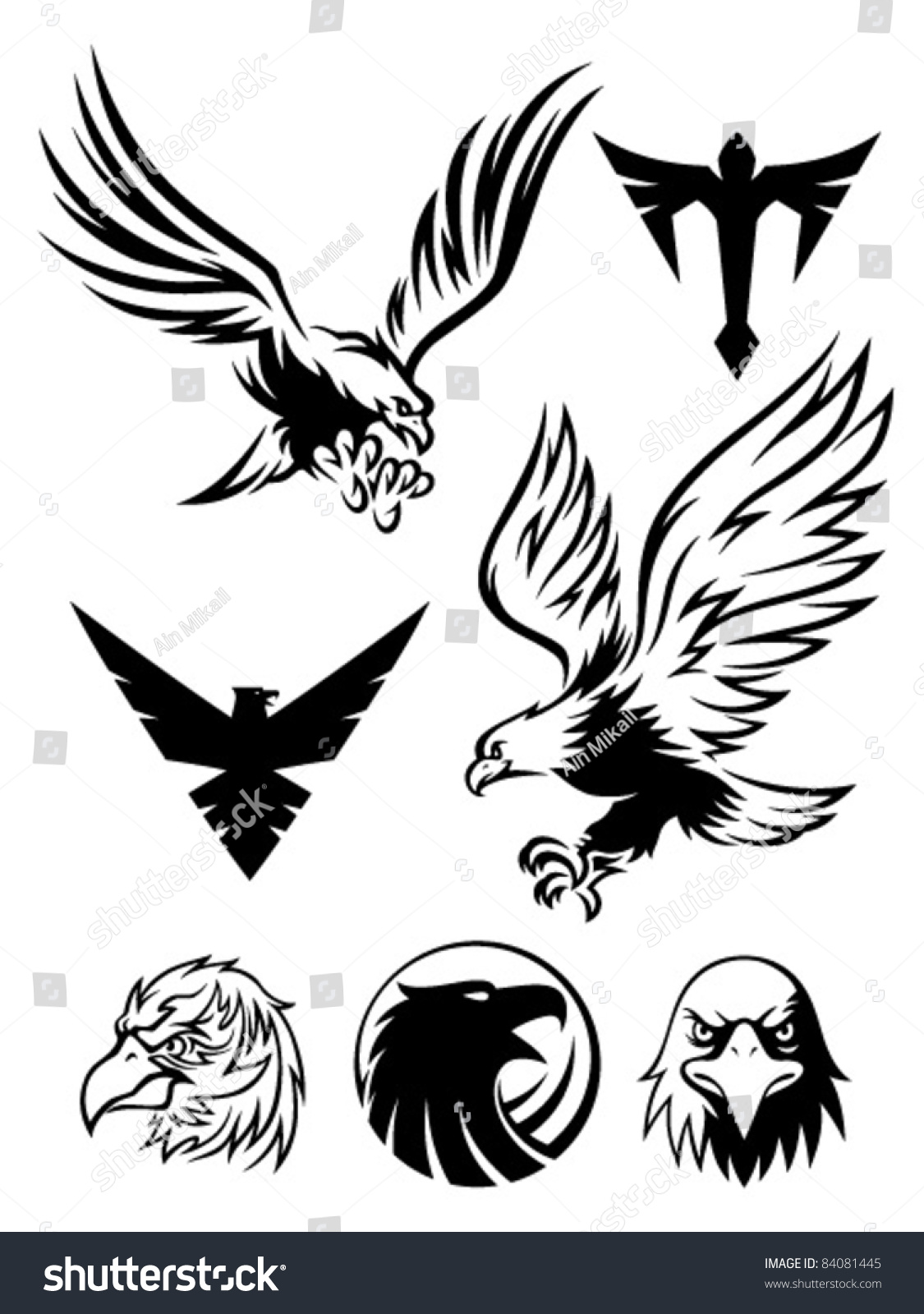 Eagle Symbol Stock Vector 84081445 - Shutterstock