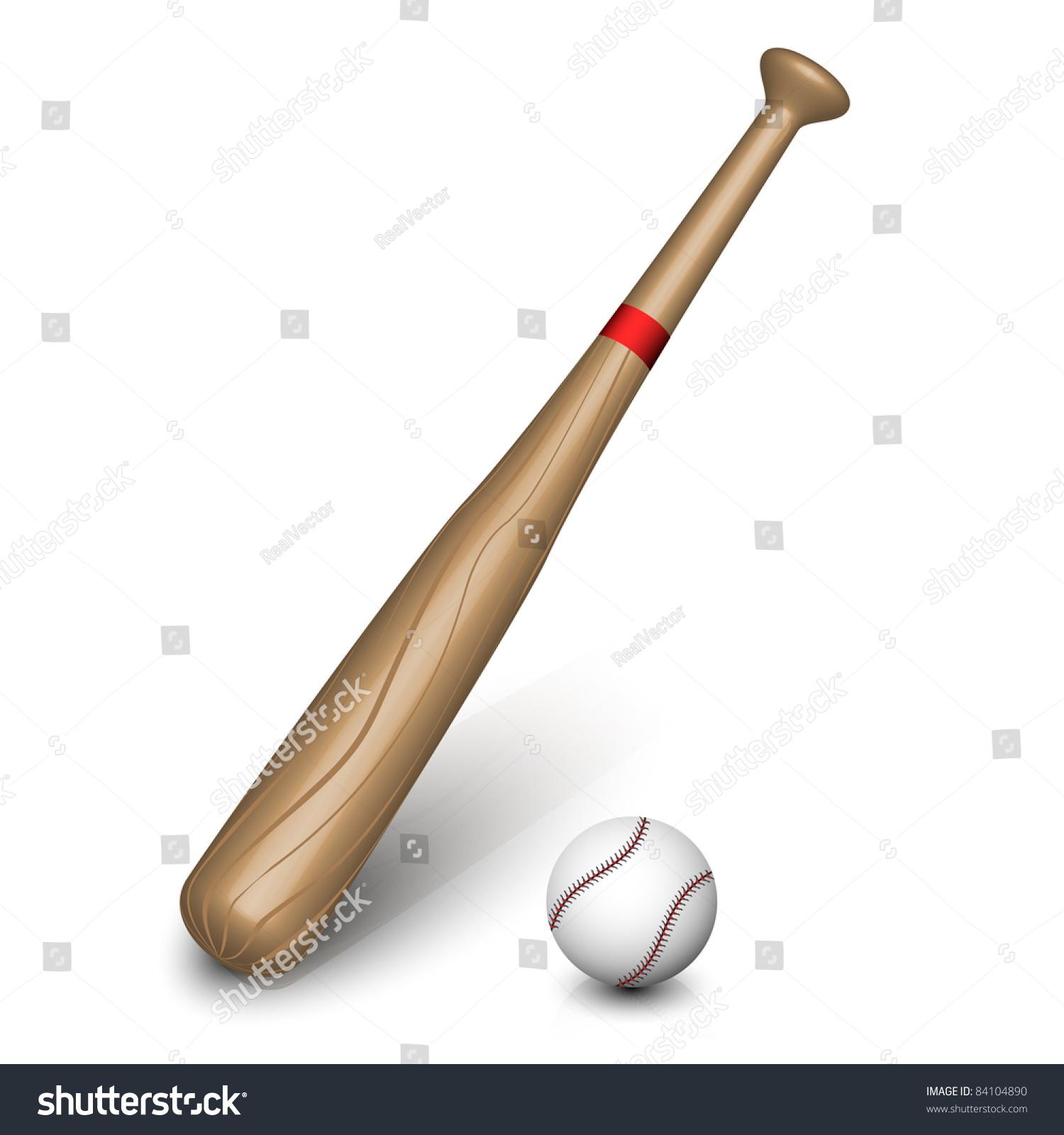 Vector Baseball Bat And Ball. - 84104890 : Shutterstock
