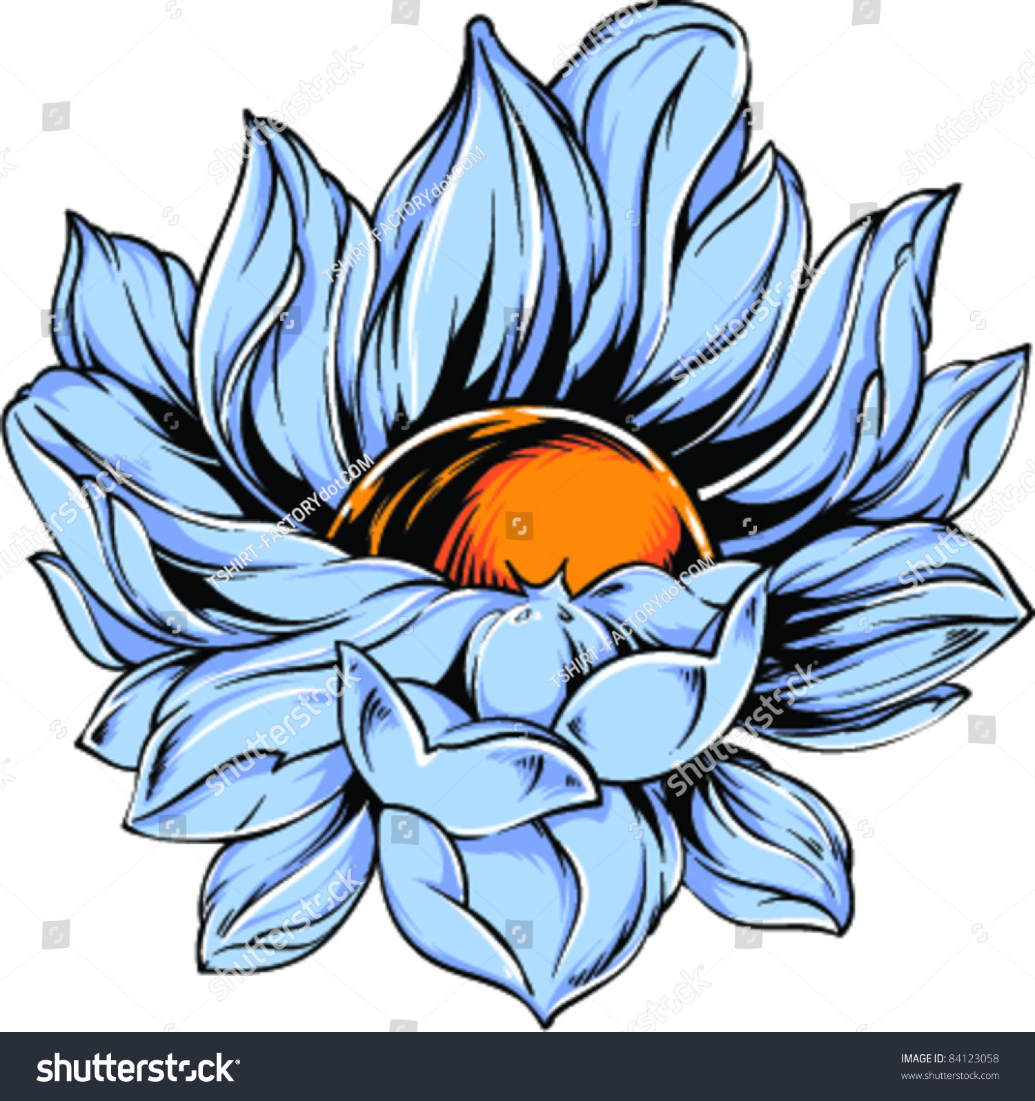Vector tattoo blue flower stock vector royalty free 84123058 vector tattoo blue flower izmirmasajfo