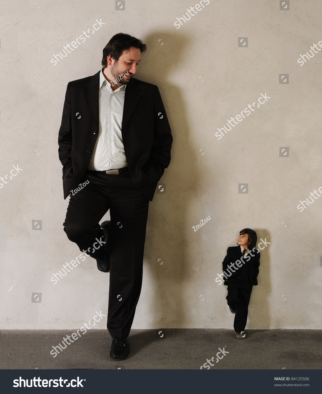 Two Businessmen Very Very Big Very Stock Photo 84125506