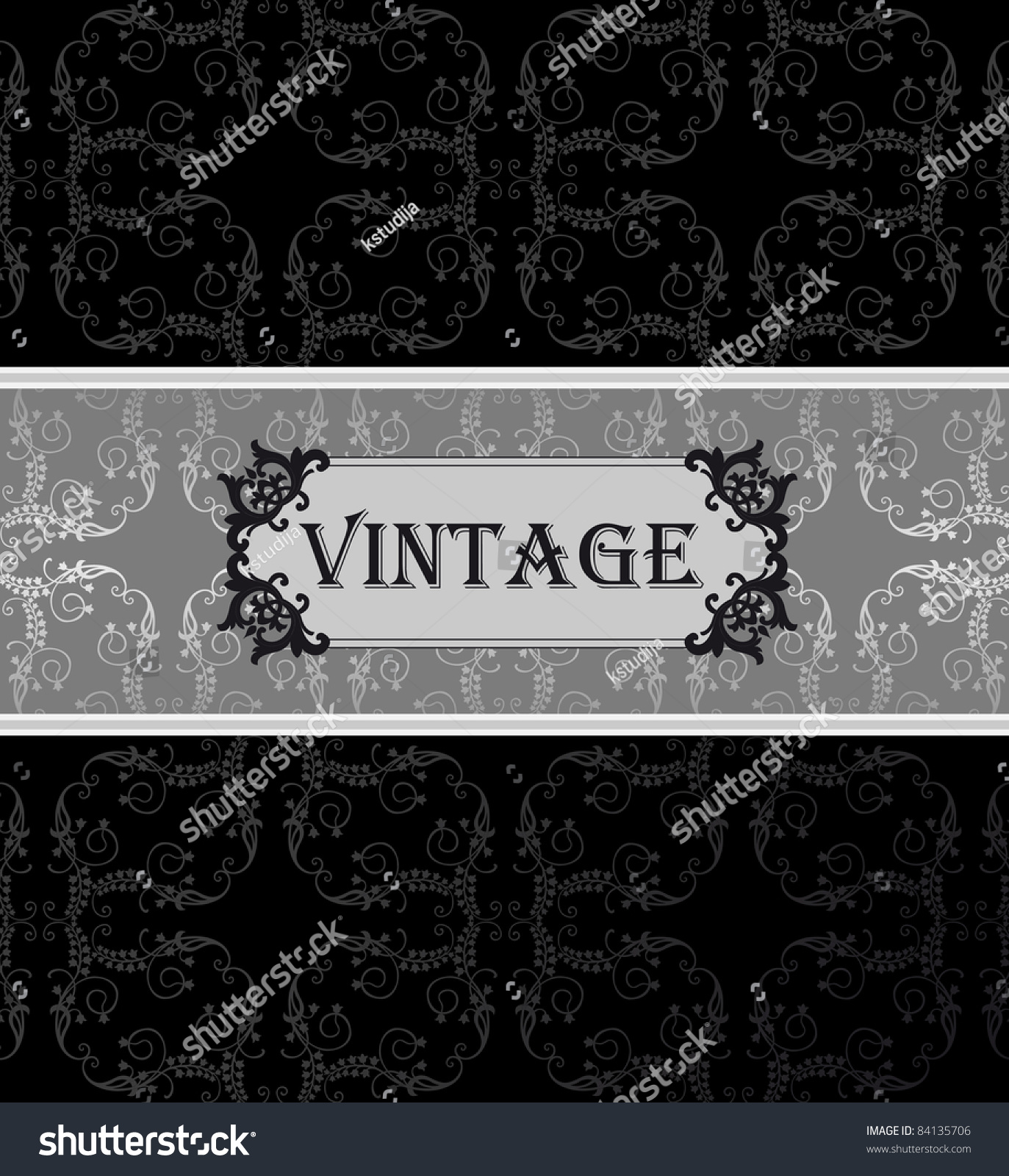 Vintage Book Cover Vector ~ Vintage vector background card book cover stock