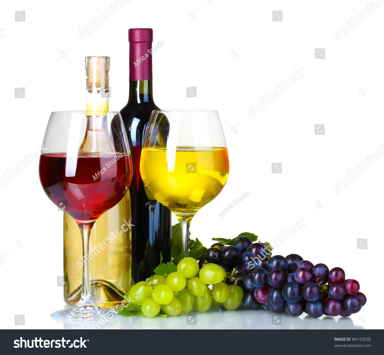 ripe grapes wine glasses bottles wine stock photo 84143539 shutterstock. Black Bedroom Furniture Sets. Home Design Ideas
