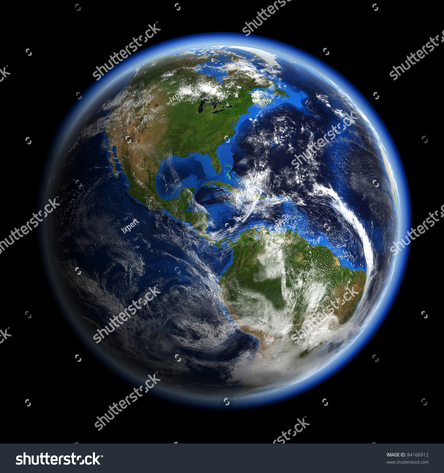 america under clouds earth space model stock illustration