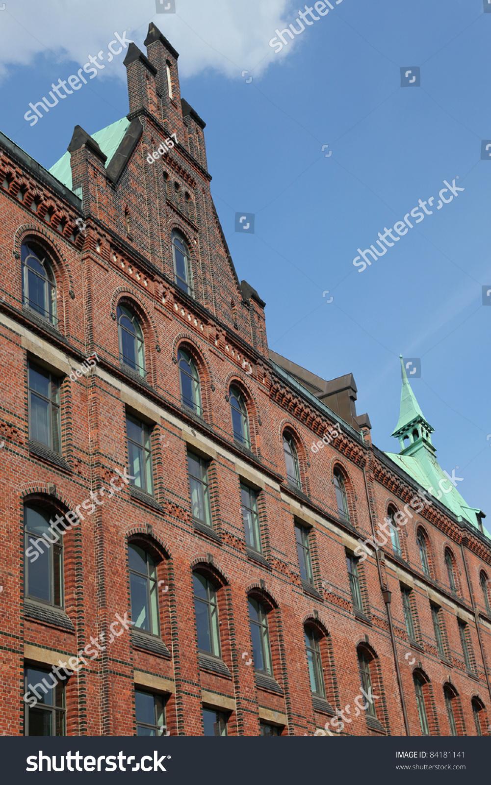facade old building speicherstadt hamburg germany stock. Black Bedroom Furniture Sets. Home Design Ideas