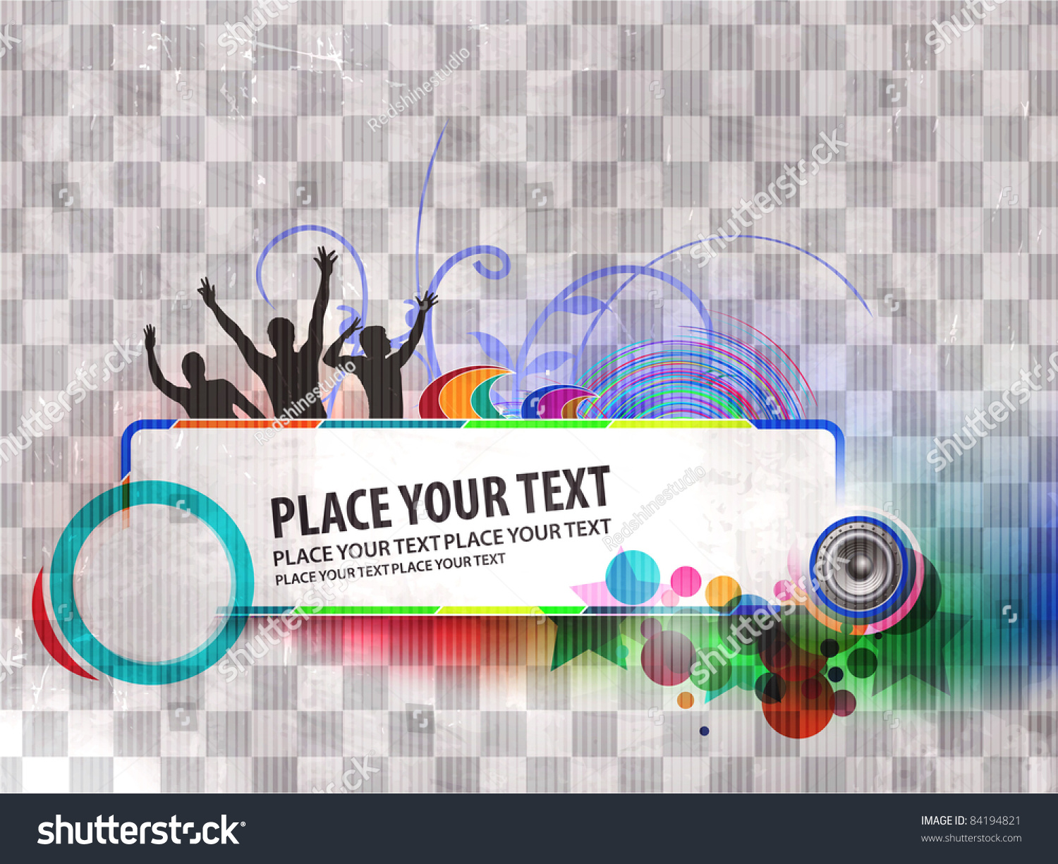 Abstract Urban Music Dance Party Banner Stock Vector Royalty Free 84194821