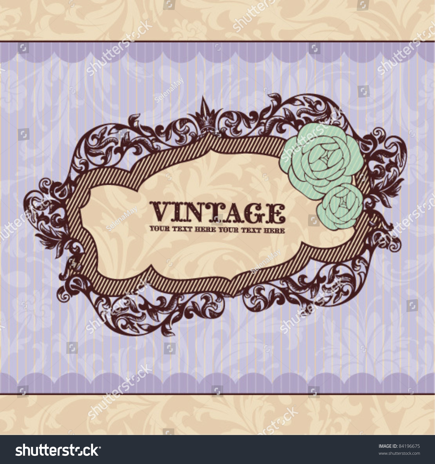Royal Vintage Frame Great For Greeting Cards And Invitations – Greeting Cards and Invitations