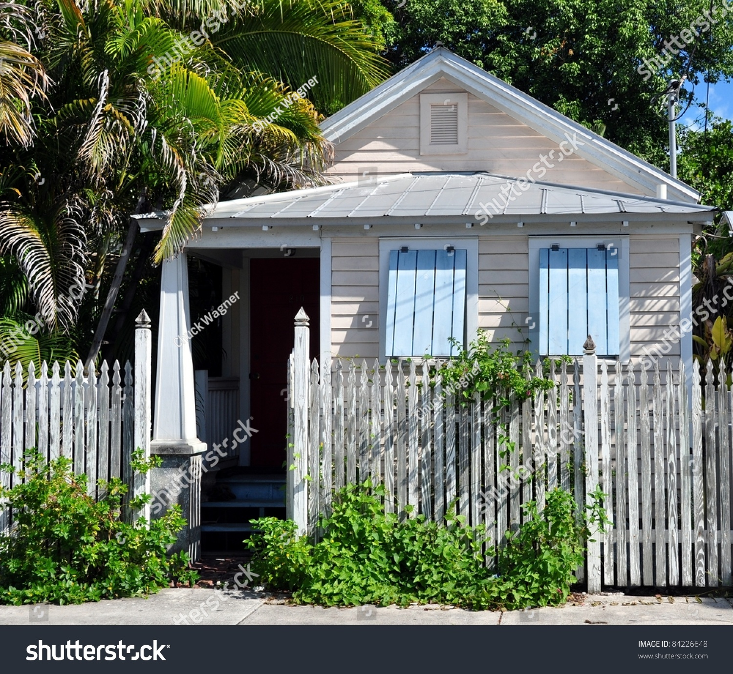 Typical key west conch cottage style stock photo 84226648 for Key west style architecture