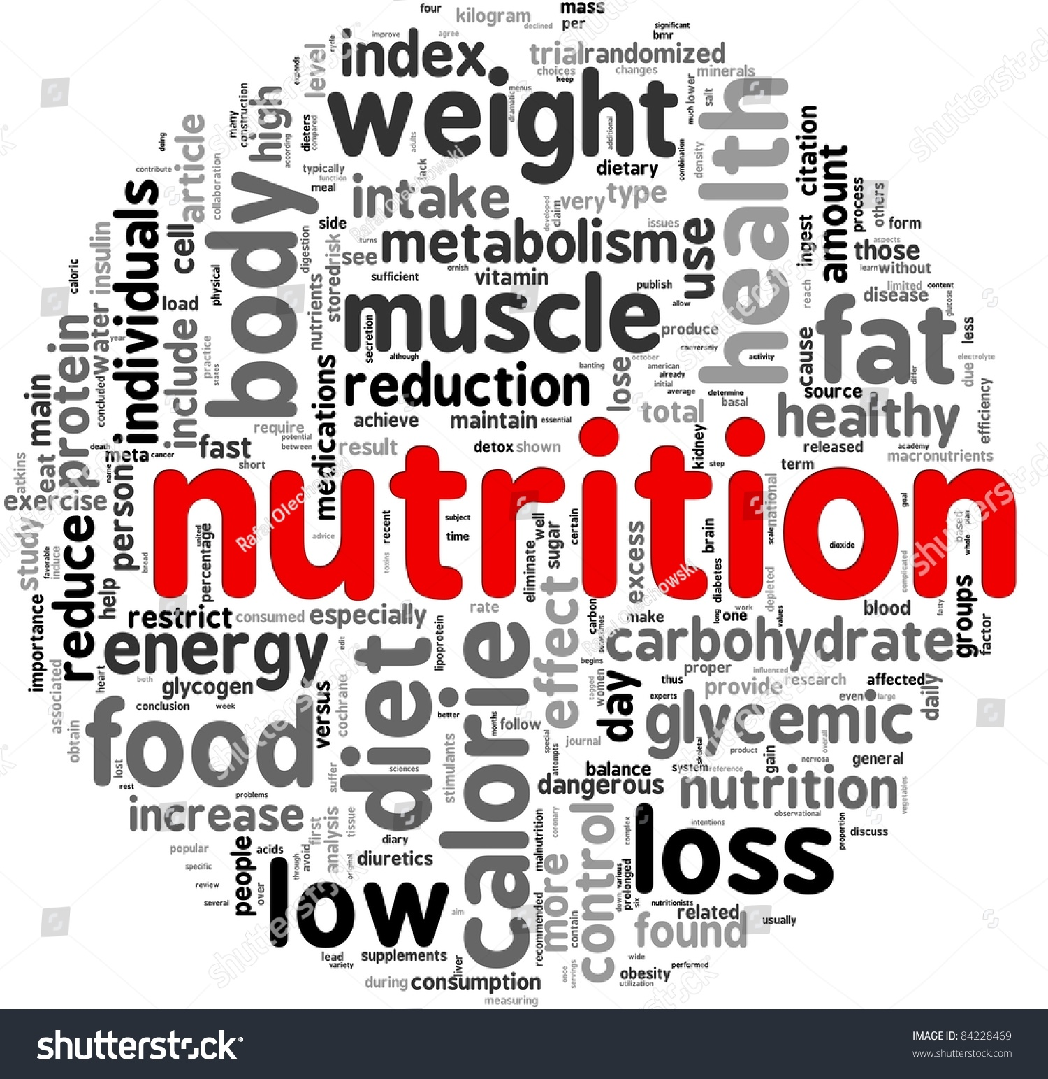 nutrition related words concept tag cloud stock illustration