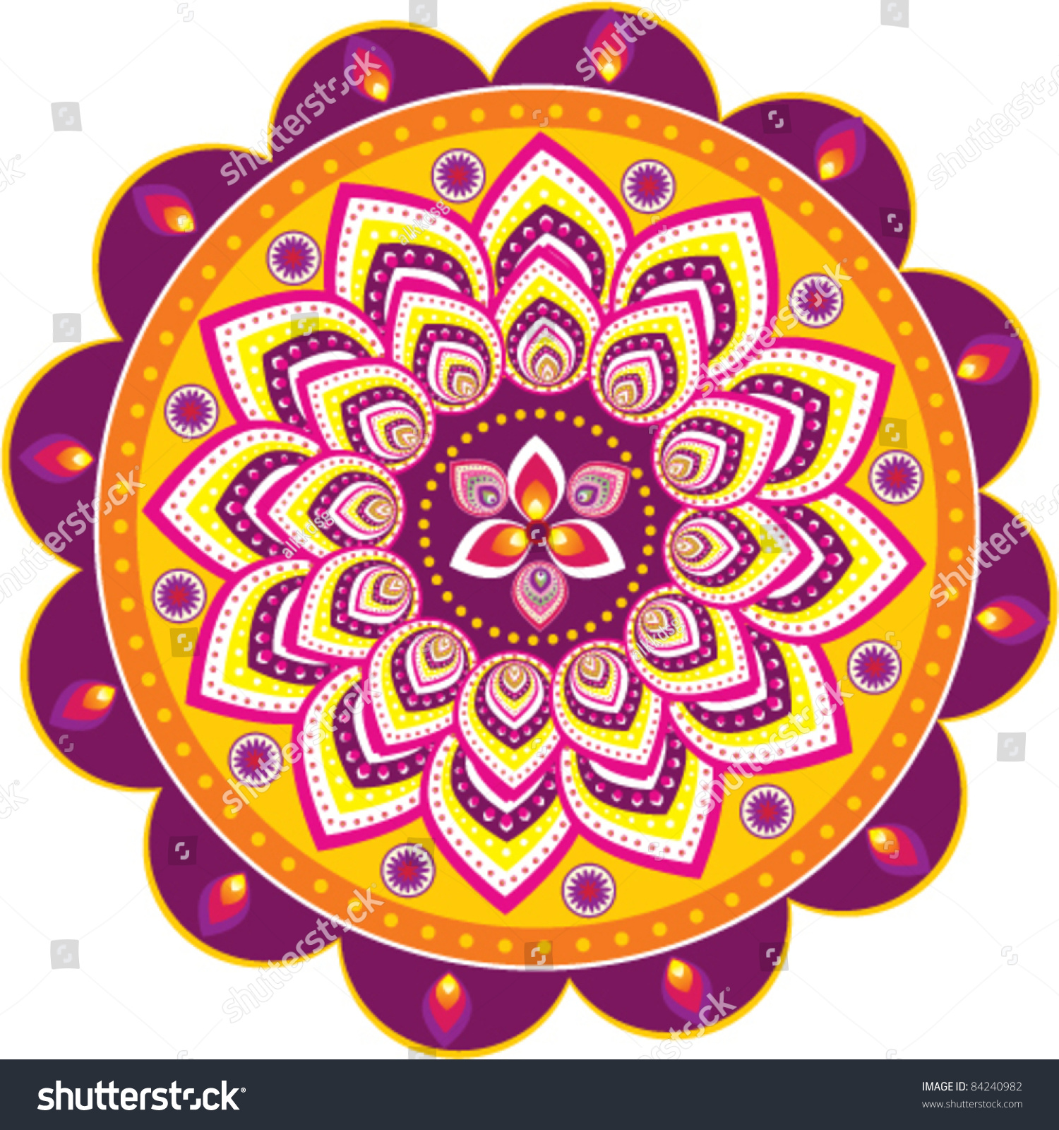 colorful indian pattern stock vector 84240982 shutterstock Henna Hand Graphics Henna Designs