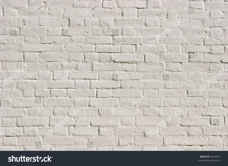 White Brick Wall Texture See Id Stock Photo 8425501