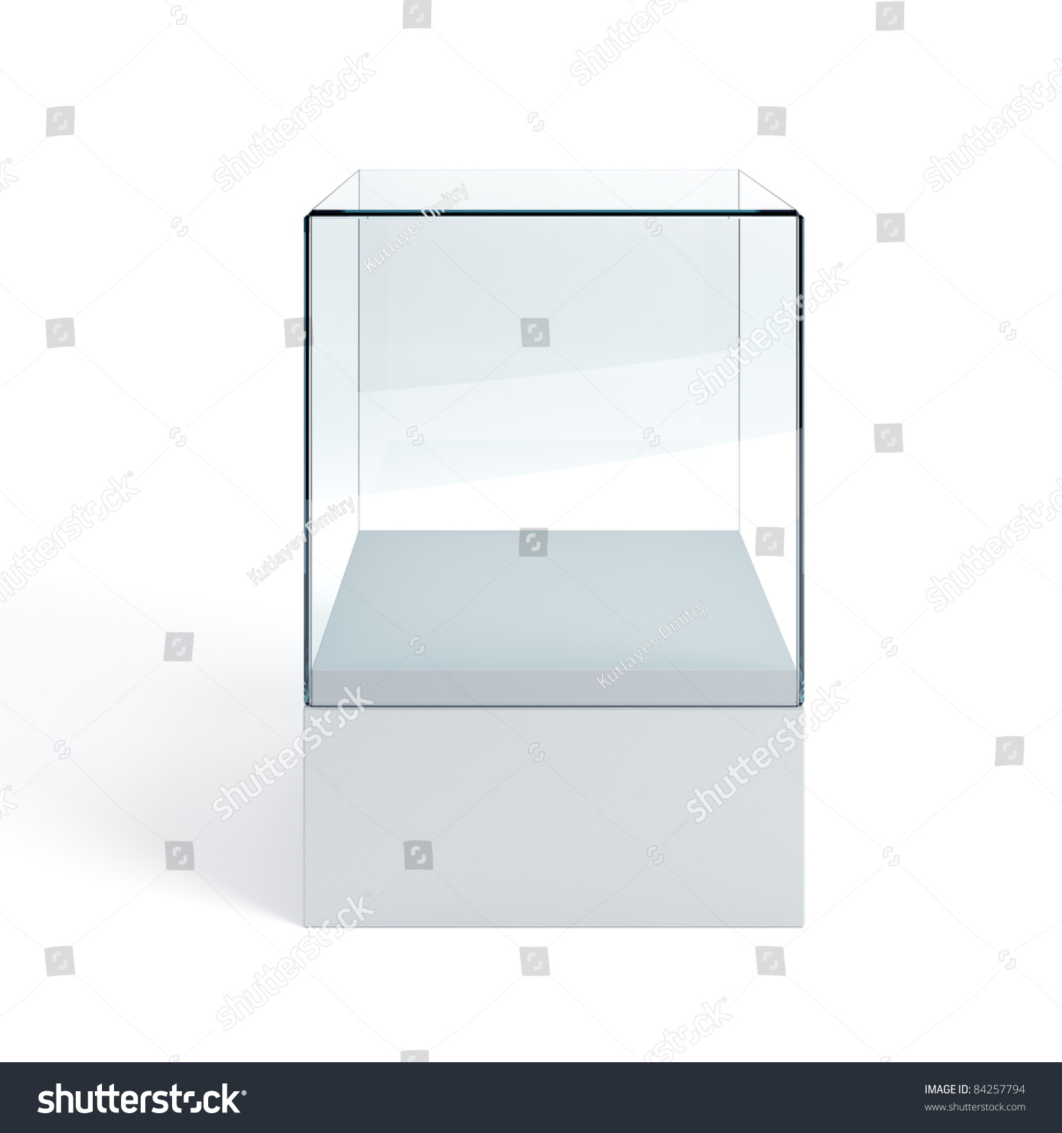 Empty display case isolated 3d render stock photo for Render case