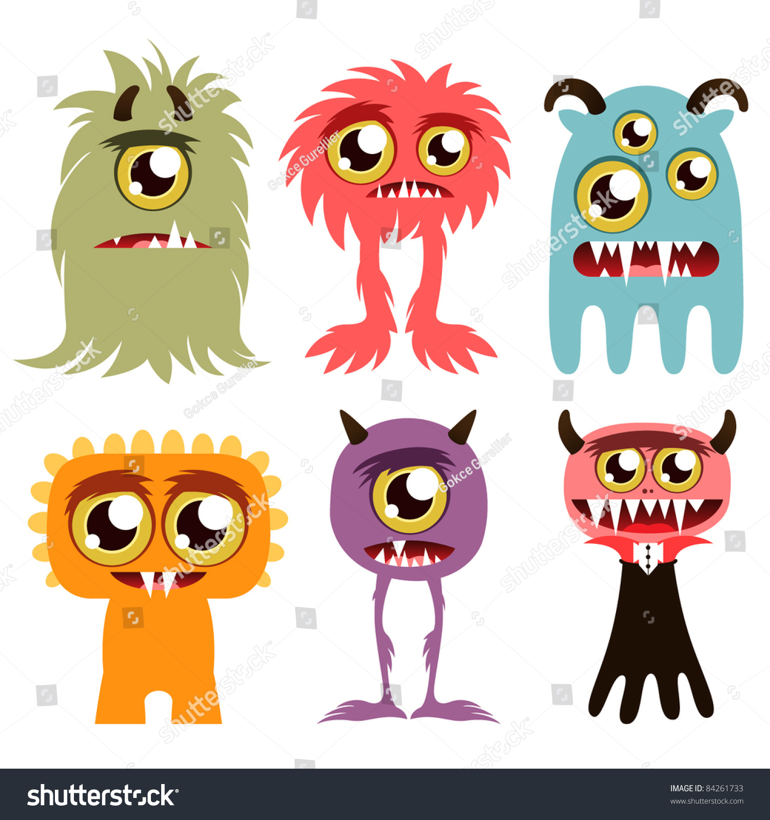 halloween monster set stock vector royalty free 84261733