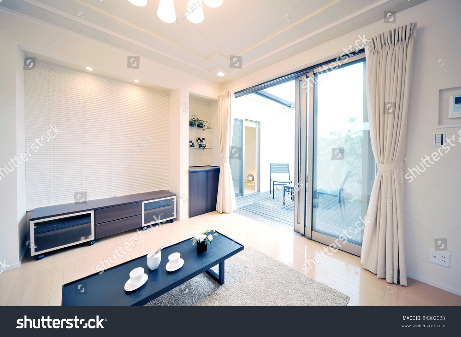 japanese style living room. INTERIOR IMAGE  Japanese style living room with tatami mat 2 Interior Image Style Living Room Stock Photo 84302023