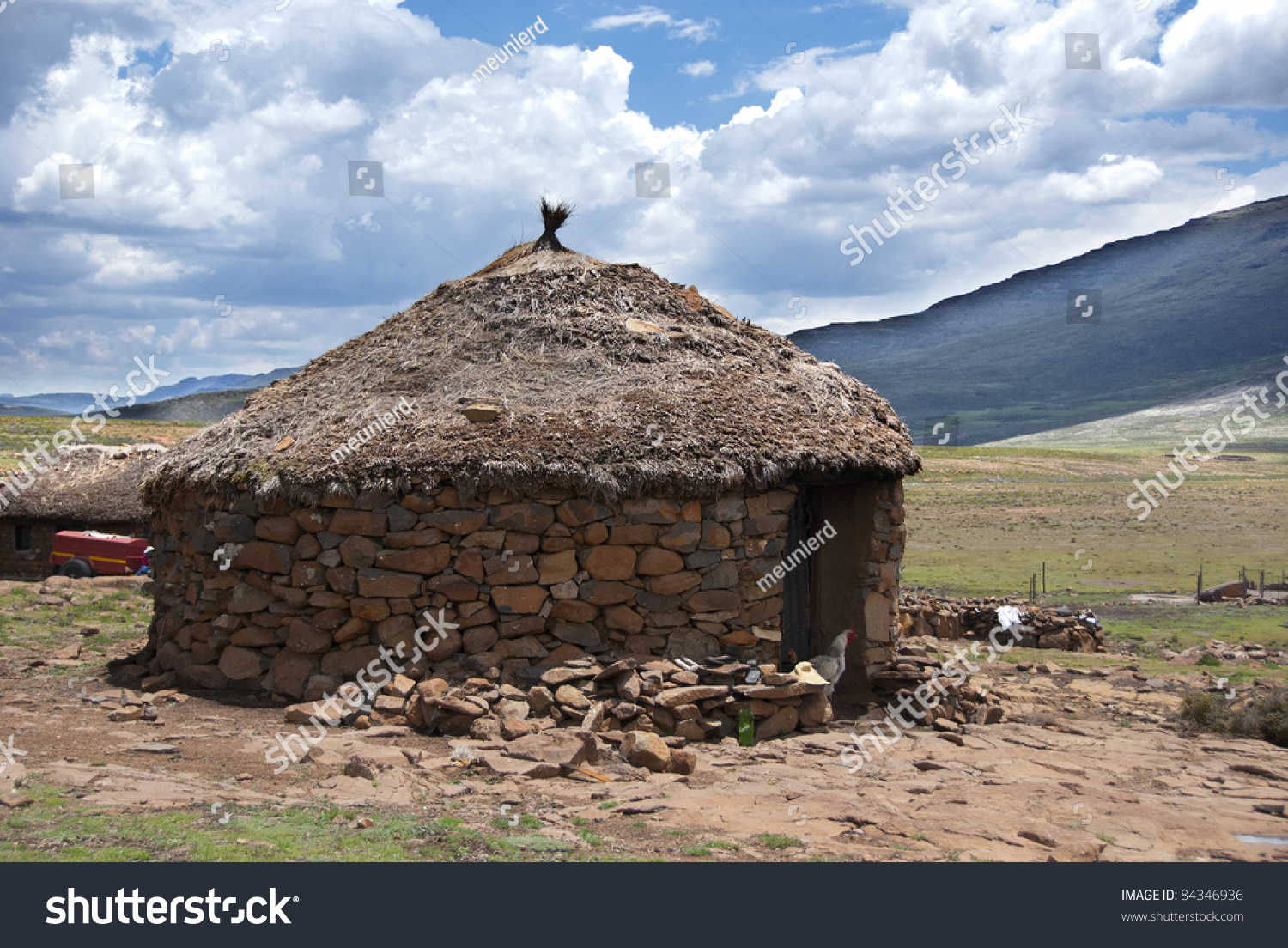Traditional style of housing in lesotho is called a rondavel the rondavels walls are often