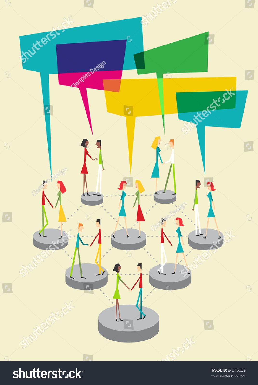 Web social relationship diagram showing people stock vector 84376639 web social relationship diagram showing people connected with colorful sticky balloons ccuart Gallery