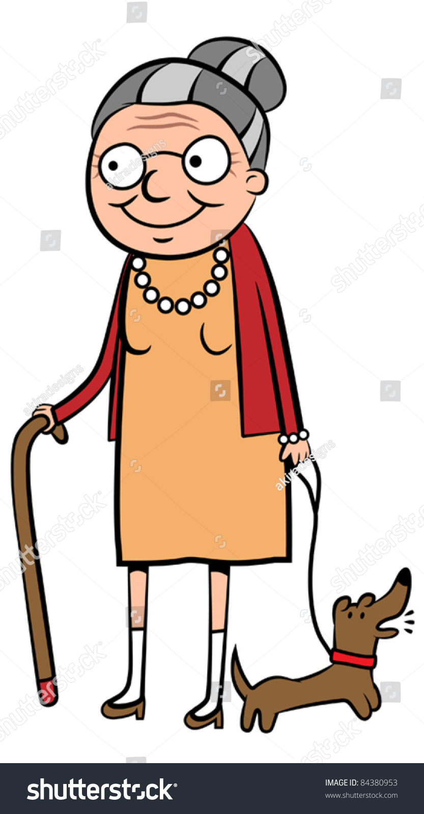 stock-vector-happy-old-cartoon-woman-walking-her-dog-vector-illustration-84380953.jpg