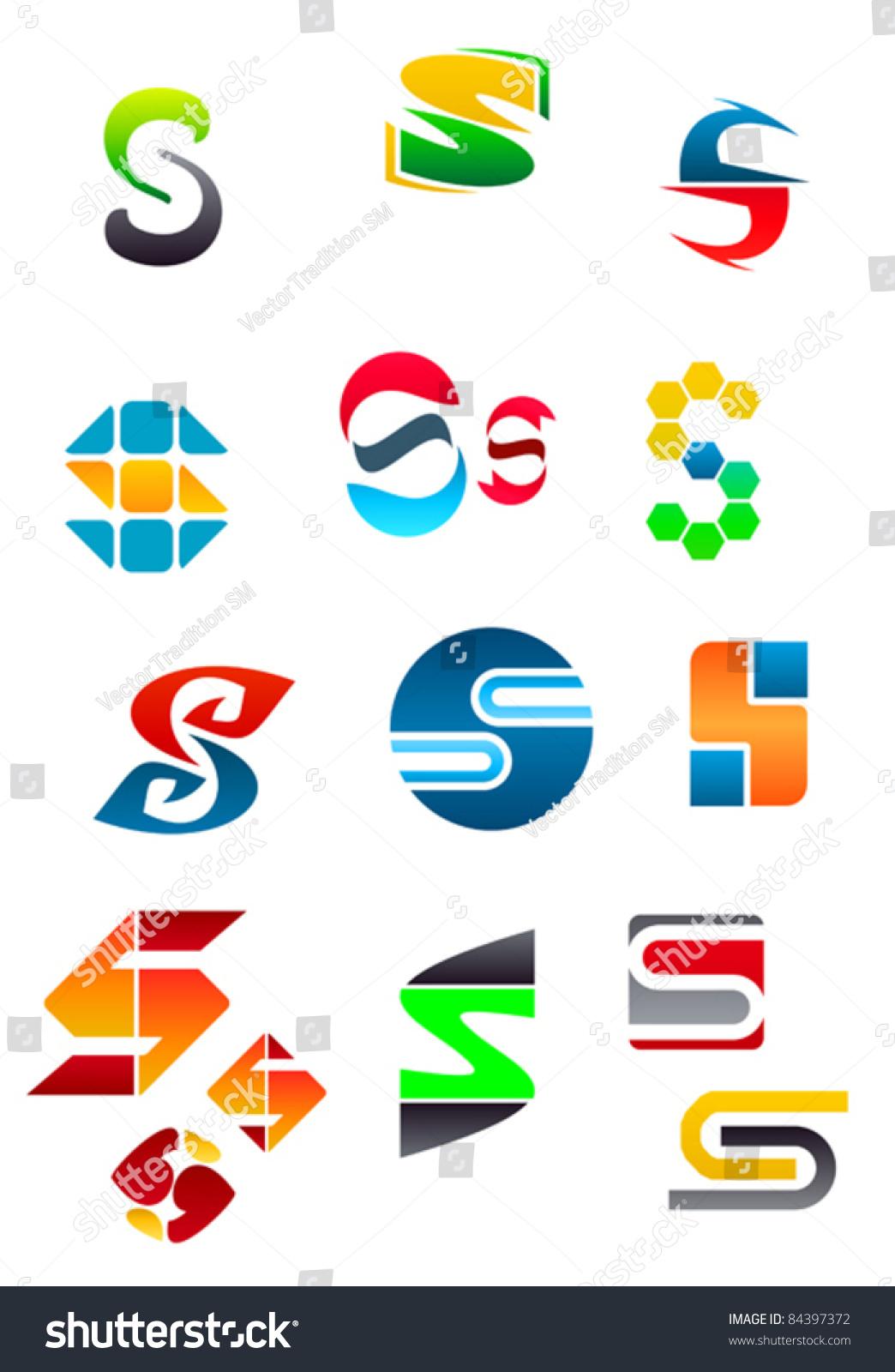 Set Alphabet Symbols Elements Letter S Stock Vector Royalty Free