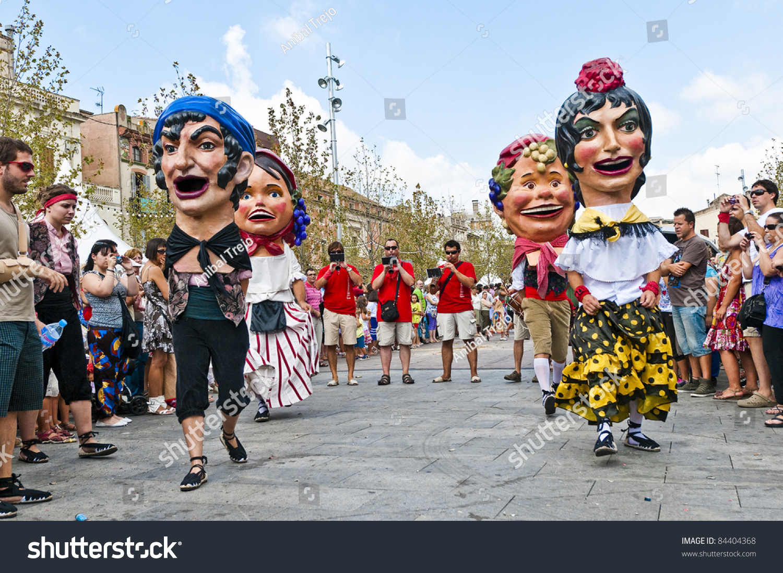 Vilafranca del Penedes Spain  city images : VILAFRANCA DEL PENEDES, SPAIN AUG 29: Capgrossos group on Cercavila ...