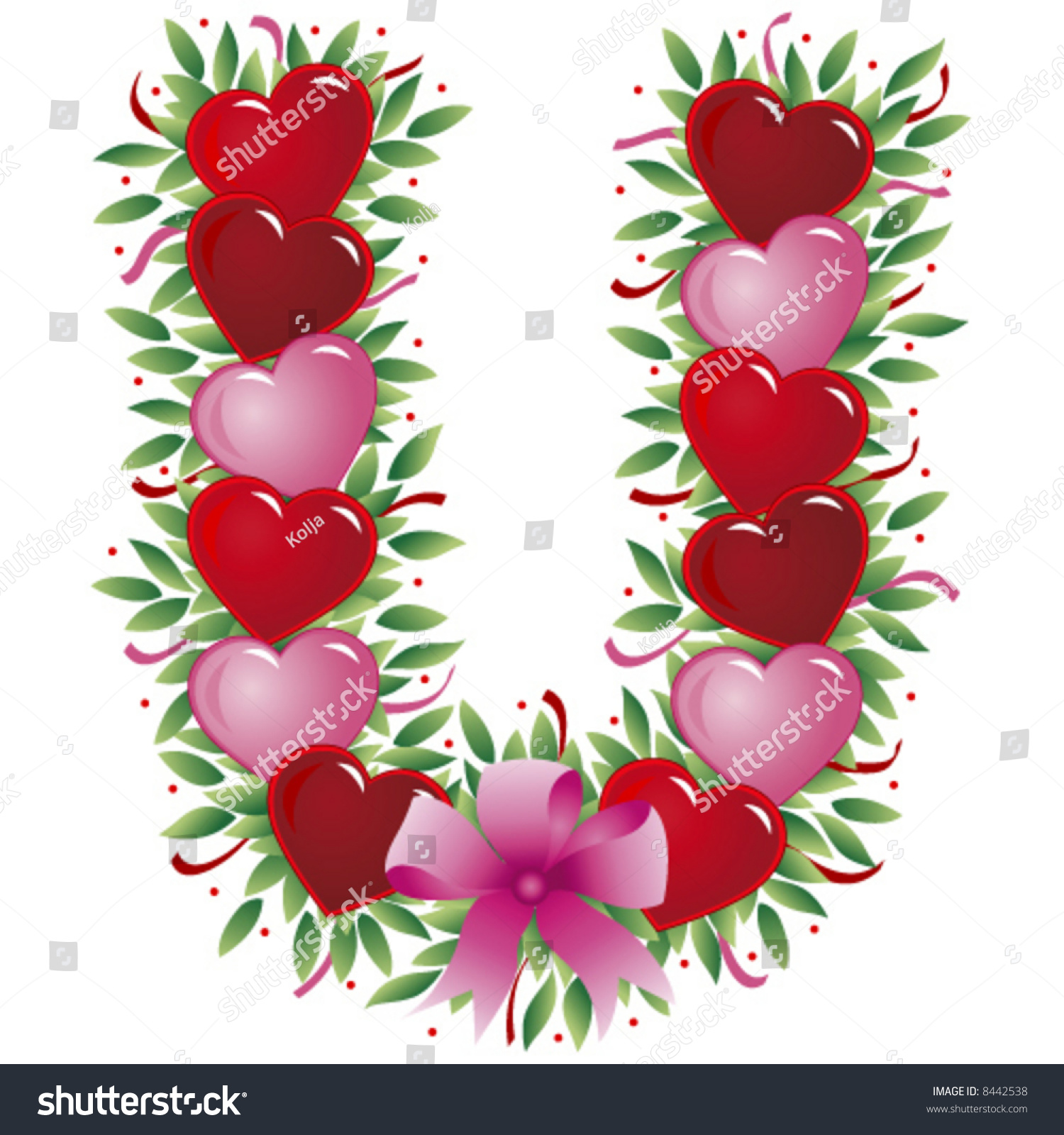 Letter u valentine heart letter stock vector royalty free 8442538 letter u valentine heart letter stopboris Image collections