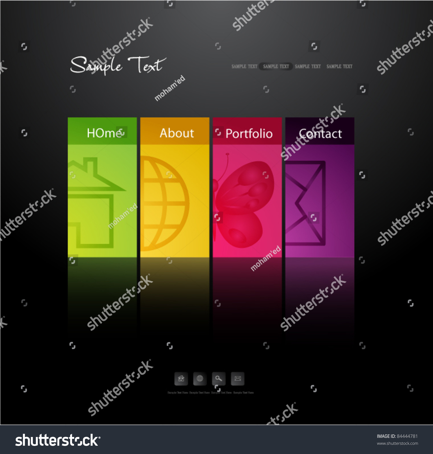 Vector Illustration Web Designs: Modern Web Design Template Stock Vector Illustration