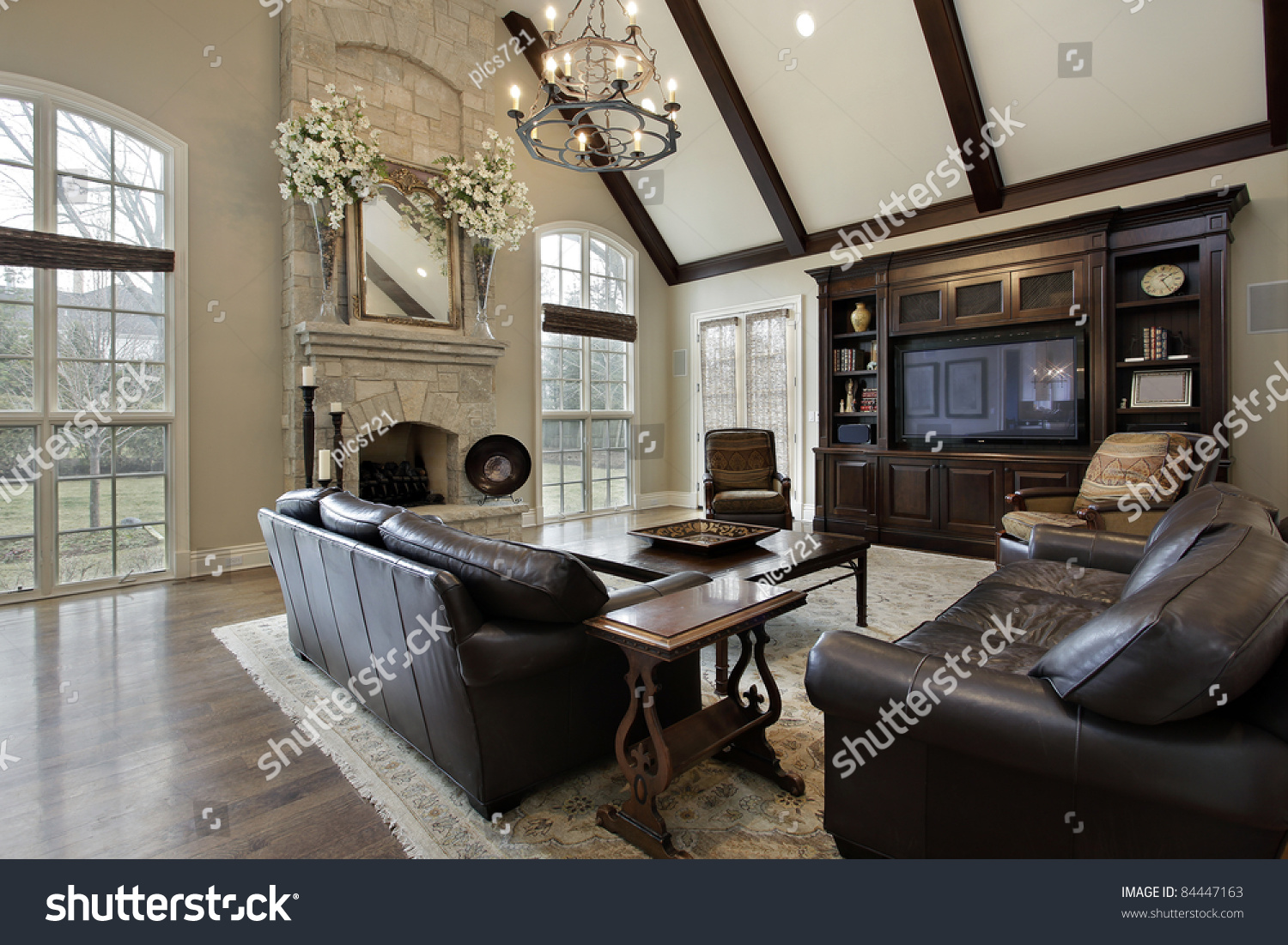 family room luxury home two story stock photo 84447163 shutterstock