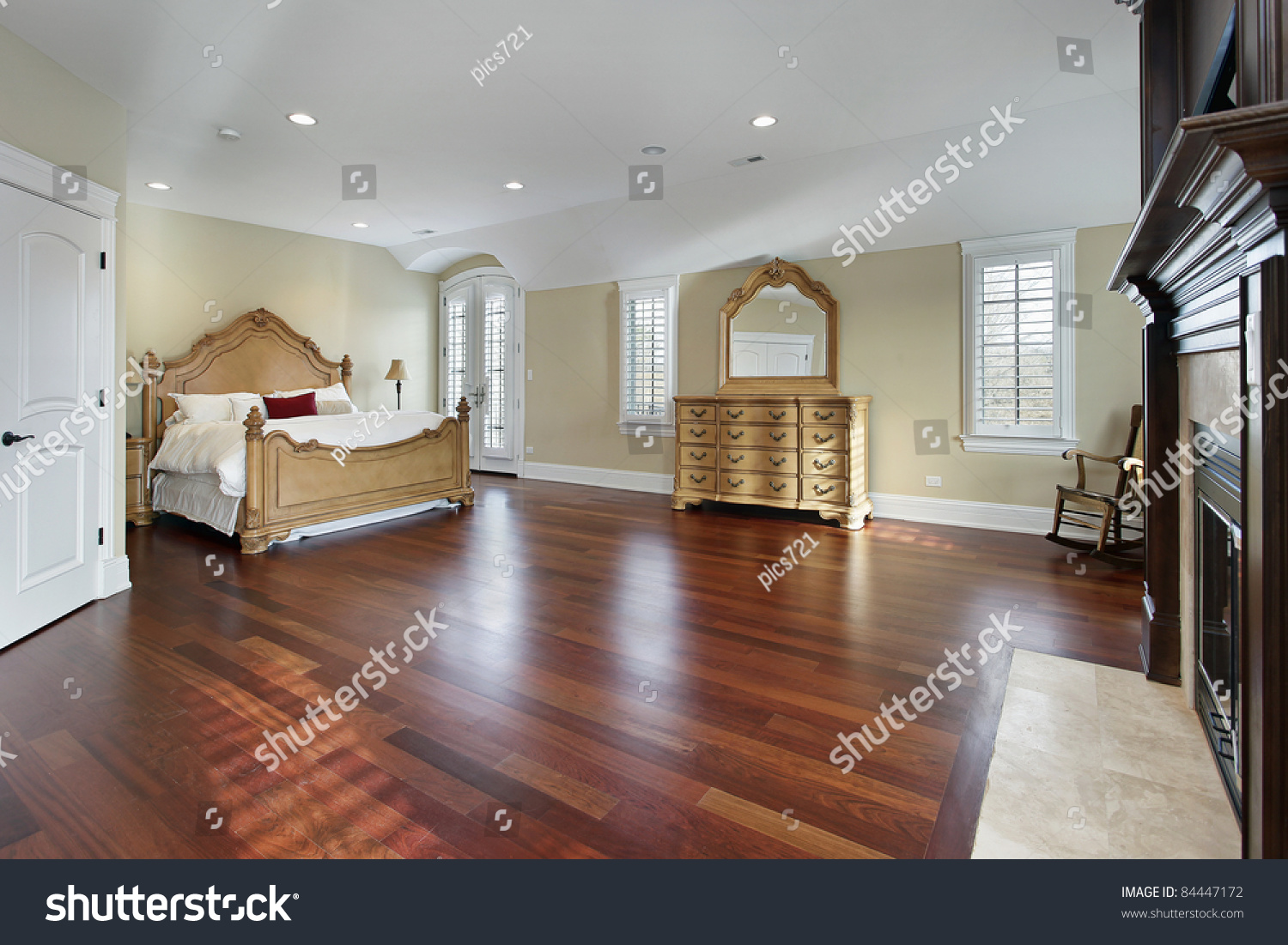 marvelous cherry wood floor bedroom