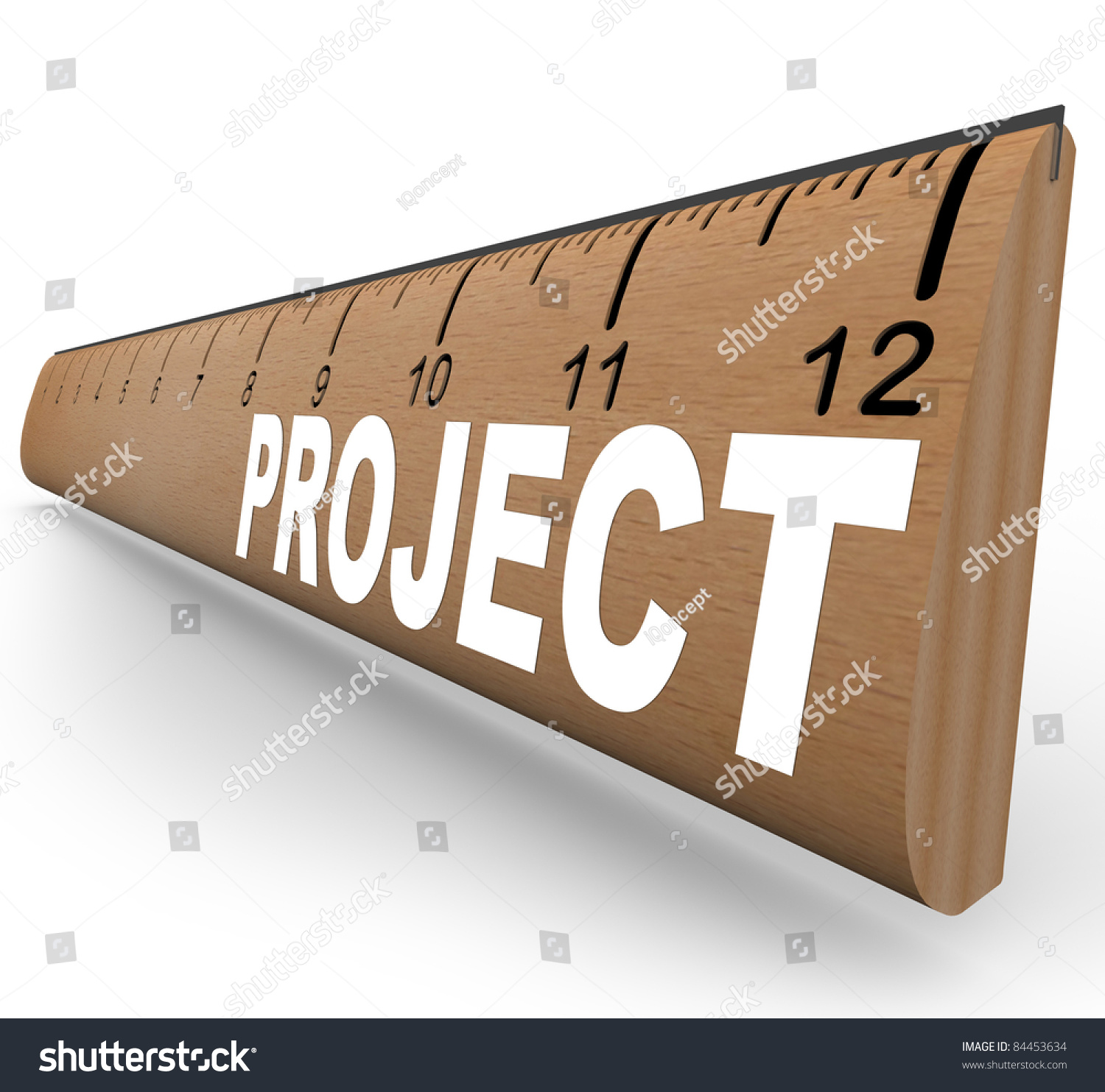 wooden ruler word project representing assignment stock a wooden ruler the word project representing an assignment for school homework or an arts