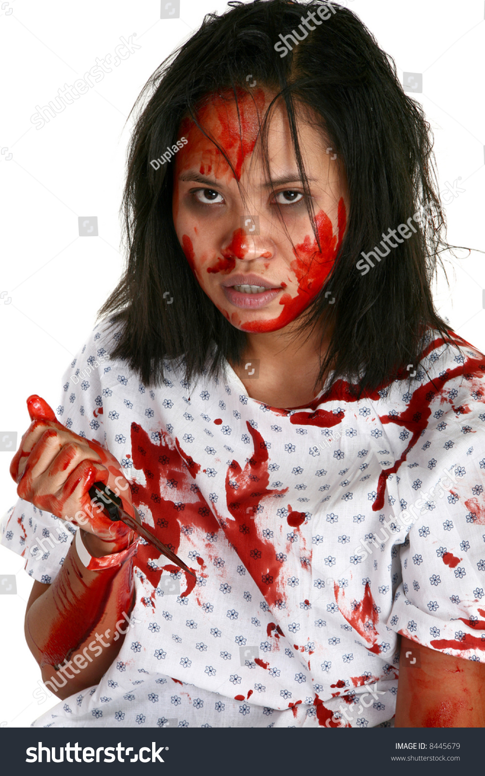Young Indonesian Woman Covered Blood Hospital Stock Photo (Edit Now ...
