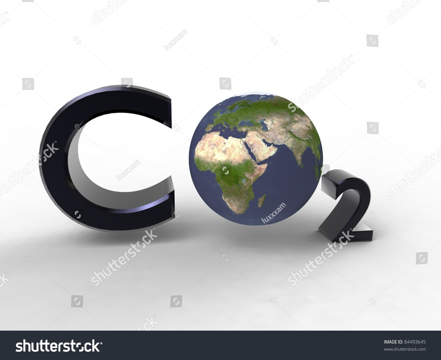 Carbon dioxide on the planet