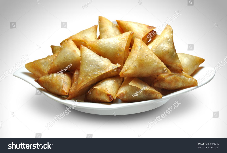 Bite Samosa Stock Photo 84498280 - Shutterstock