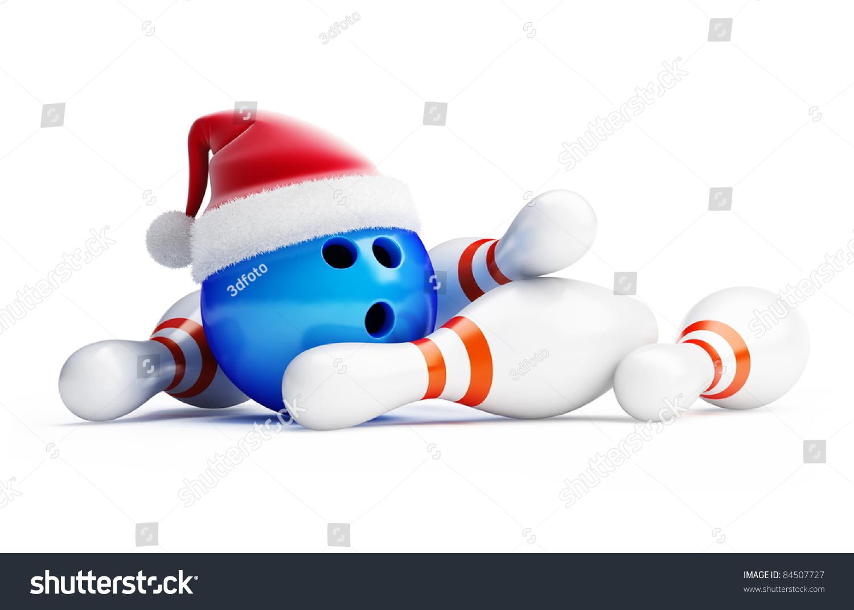 Bowling New Year Santa Hat Stock Photo 84507727 Shutterstock