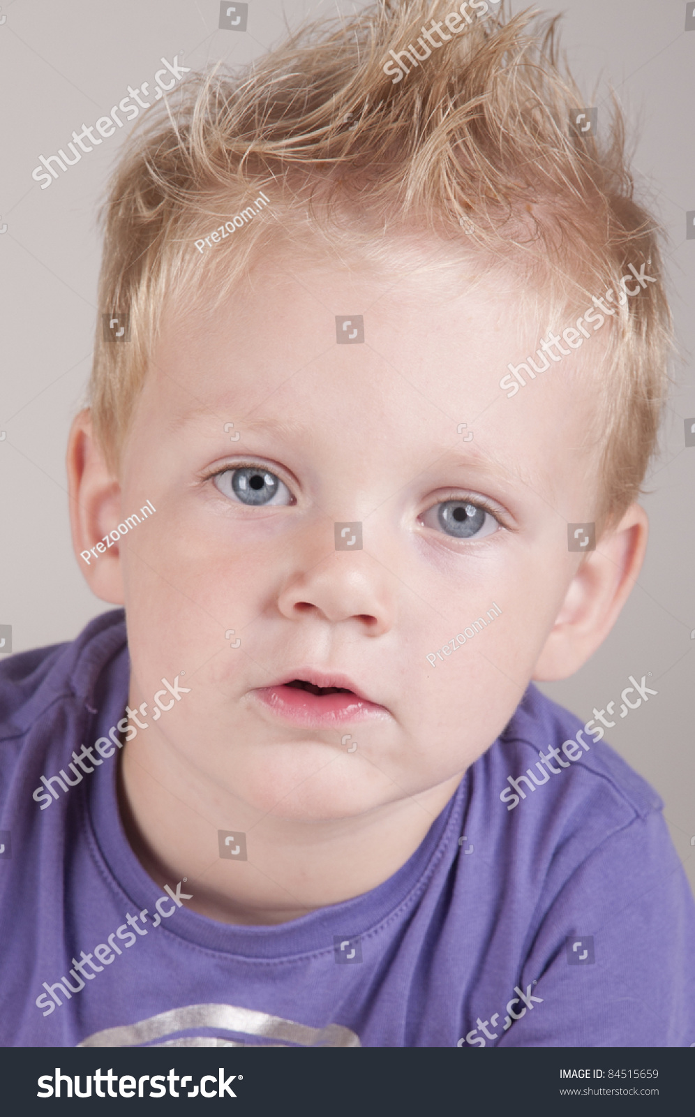 Cute Blue Eyes Boy Blonde Hair Stock Photo 84515659 Shutterstock