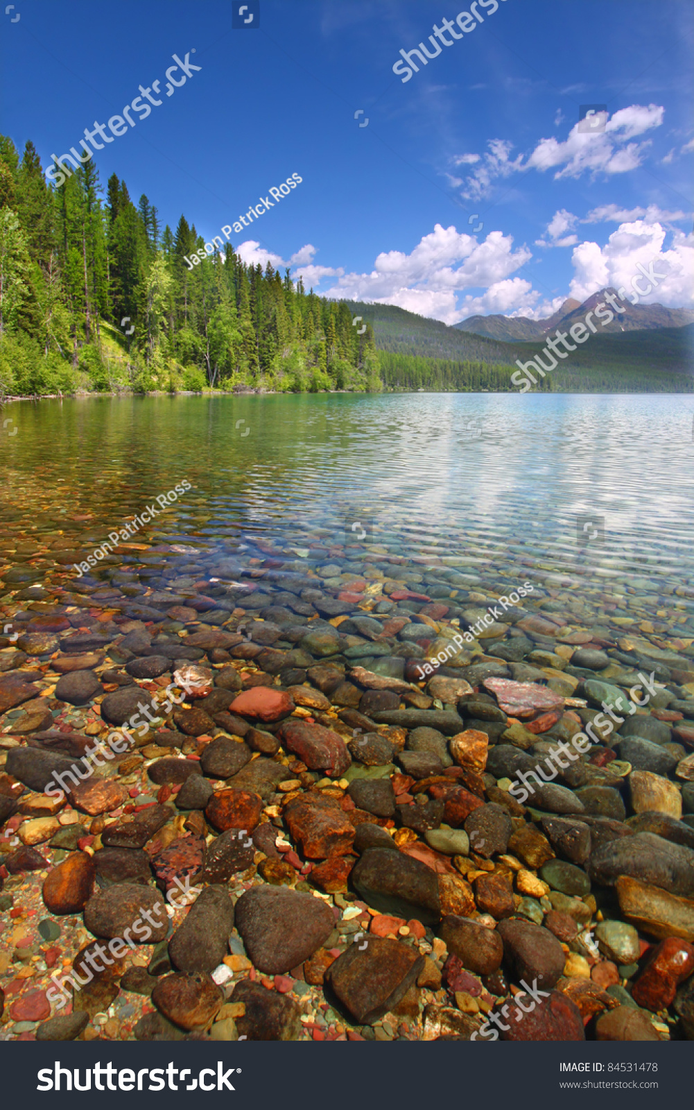 Pretty Rocks Seen Through The Crystal Clear Waters Of