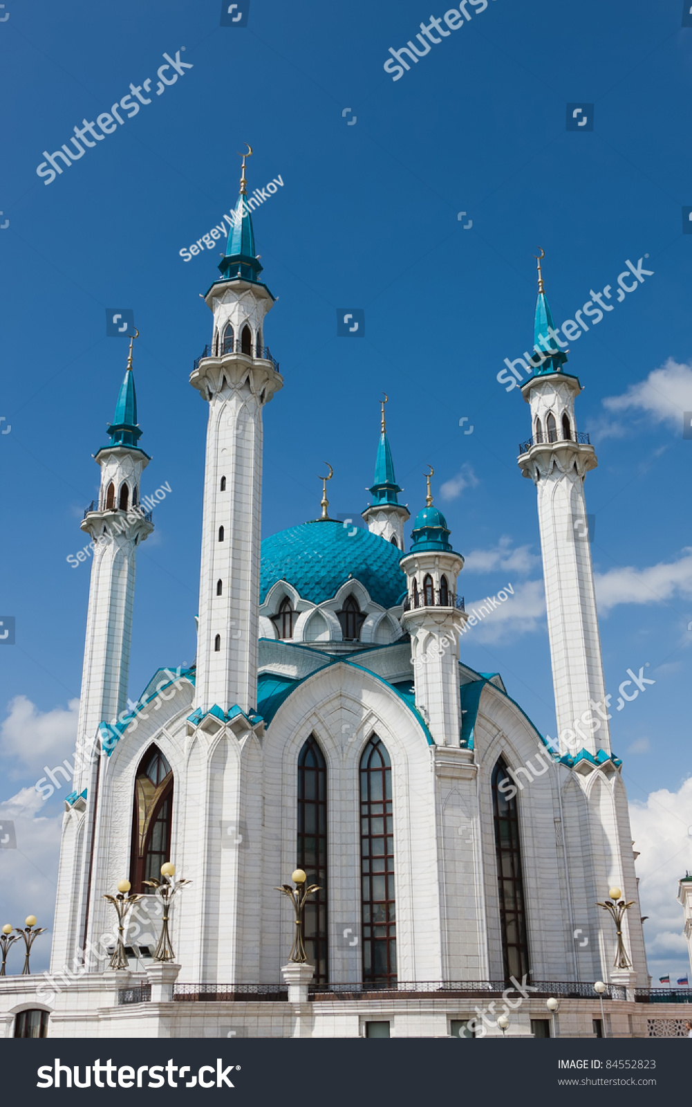 Europe'S Largest Mosque Kul-Sharif. Russia. Kazan. Stock ...