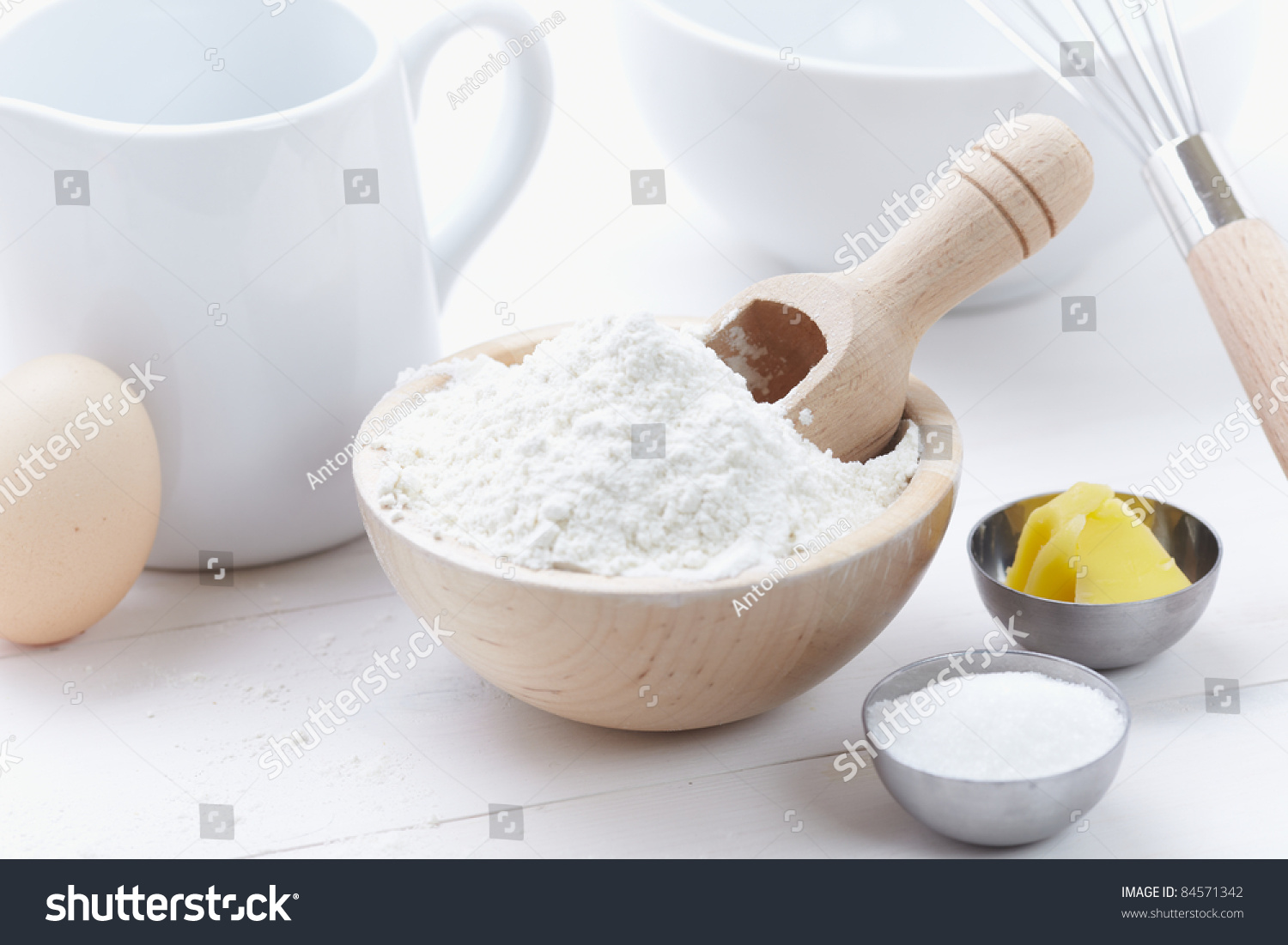 Ingredients tools make cake flour butter stock photo for What are the ingredients for making cake