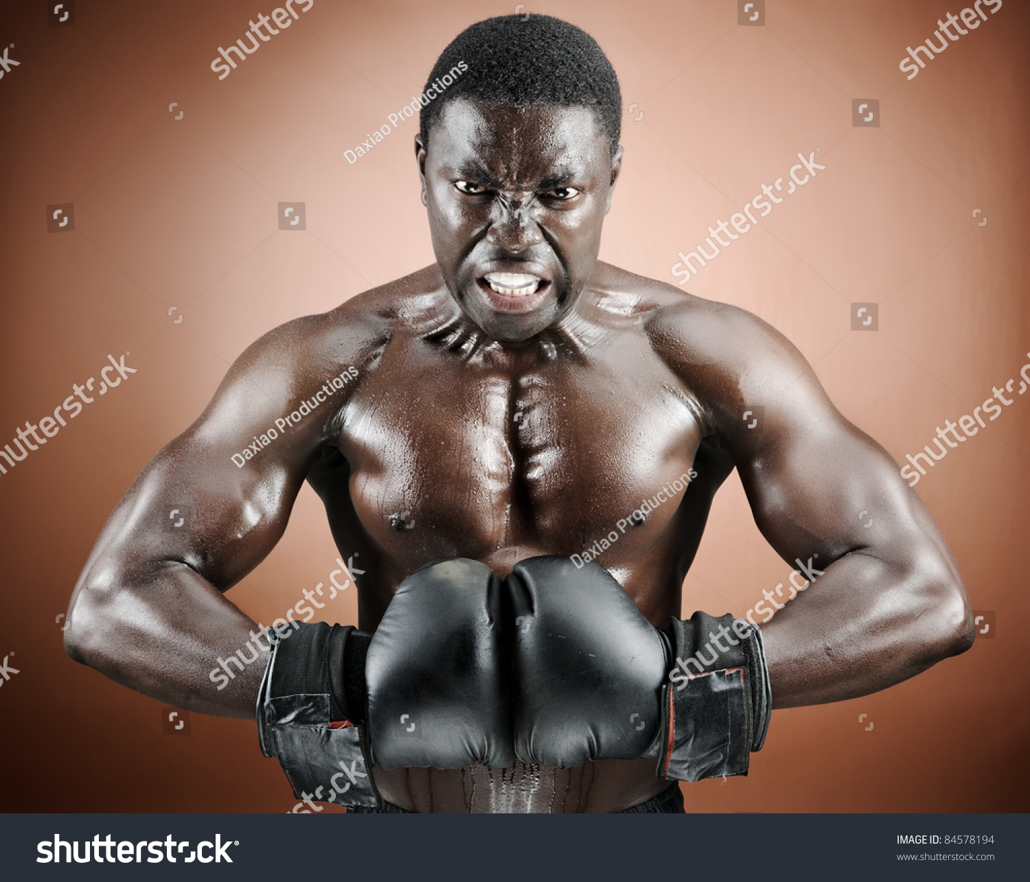 Strong Man Flexing Pectoral Bicep Muscles Stock Photo Edit Now