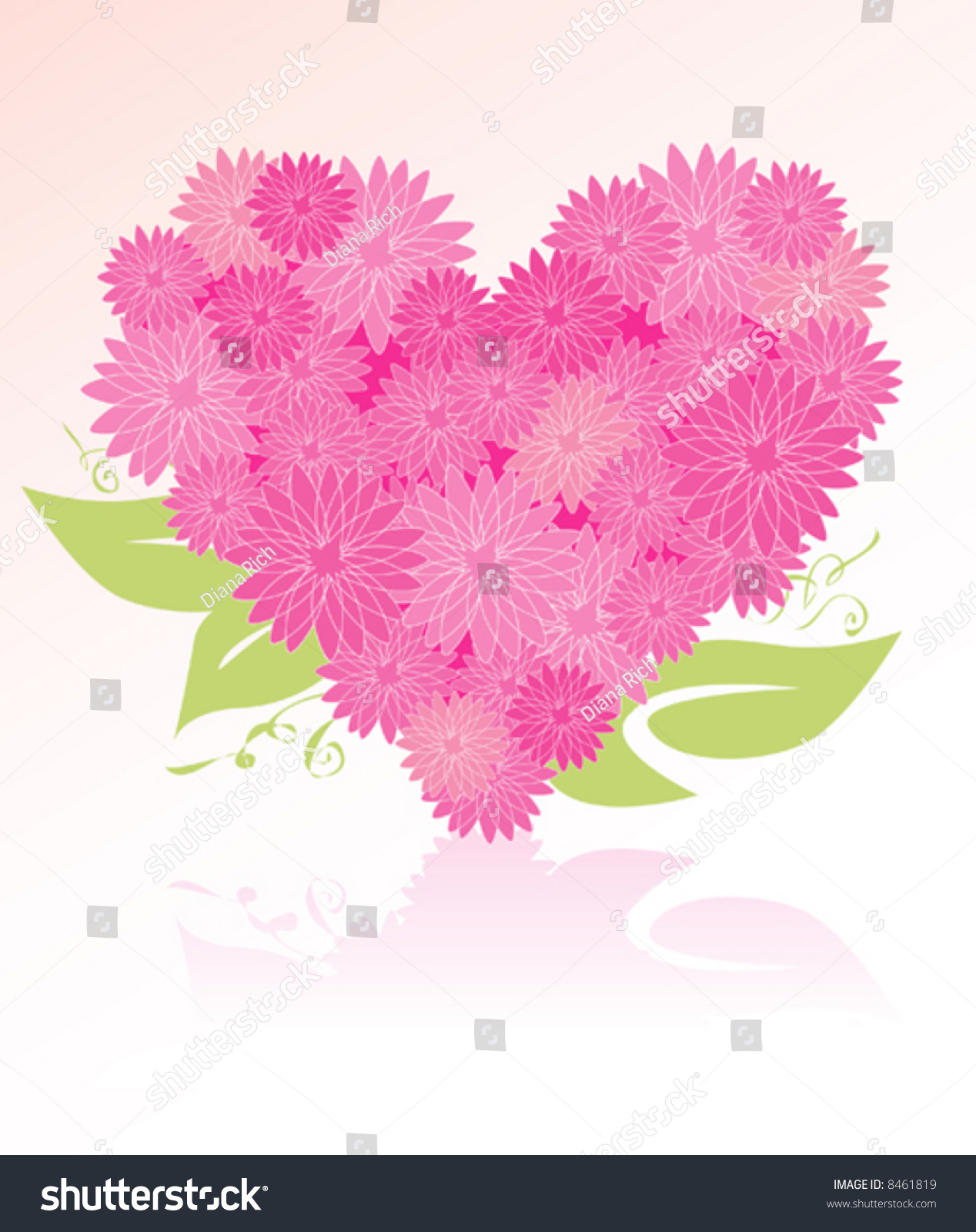 Heartshaped Flower Bouquet Easyedit Layered File Stock Vector (2018 ...