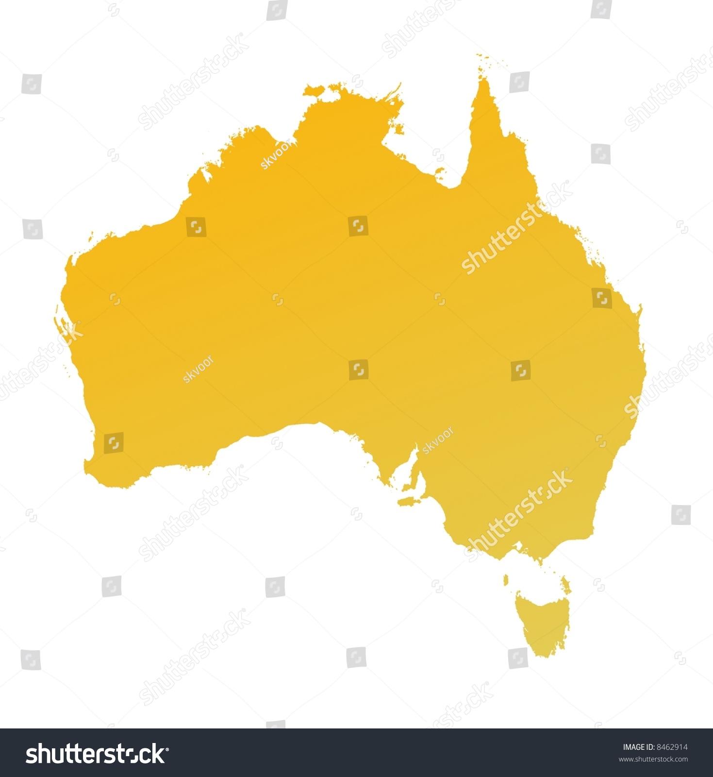Orange Australia  city photos gallery : Orange Gradient Australia Map. Detailed, Mercator Projection. Stock ...