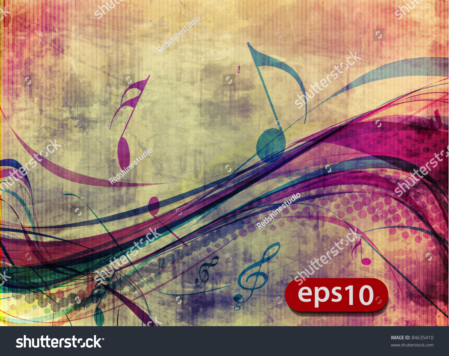 Poster design notes - Abstract Music Notes Design For Music Poster Use Vector Illustration