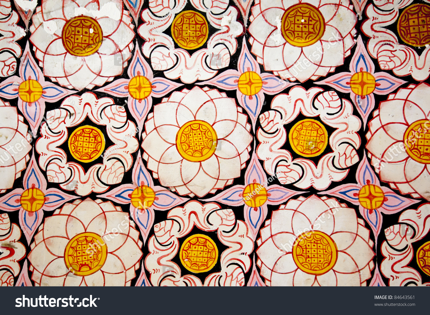 Flower Pattern Temple Tooth Buddha Candy Stock Photo