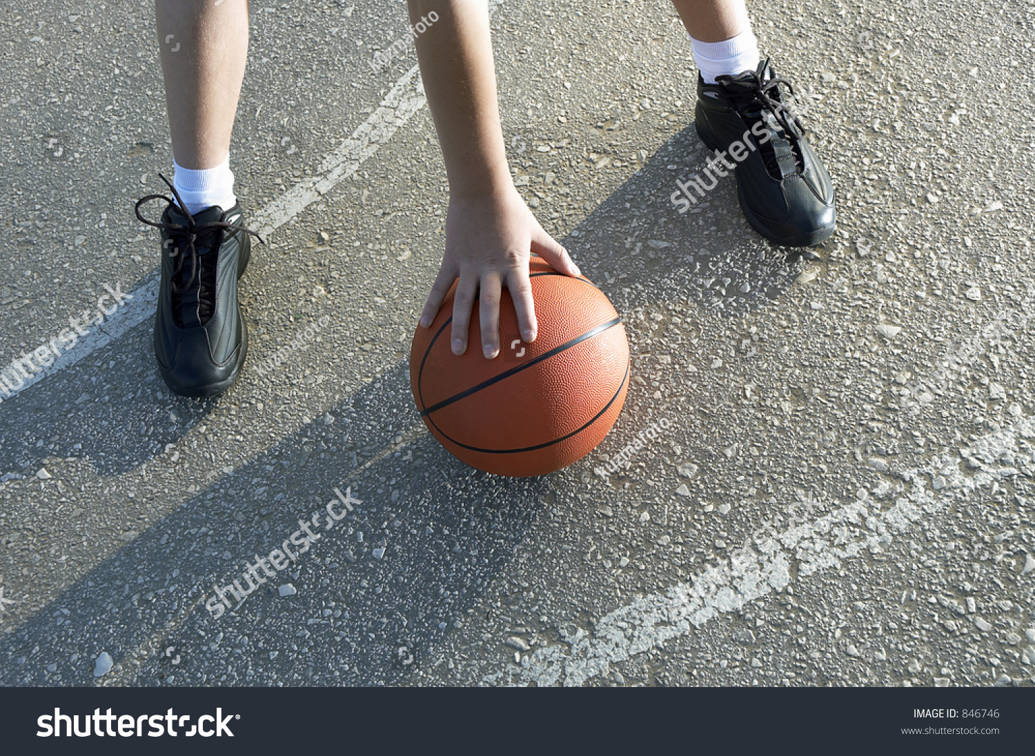 Basketball Outside Stock Photo 846746 : Shutterstock