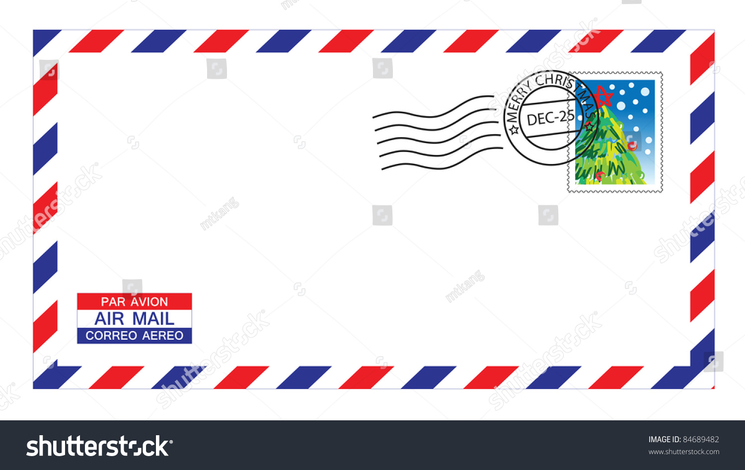 can i write airmail on envelope