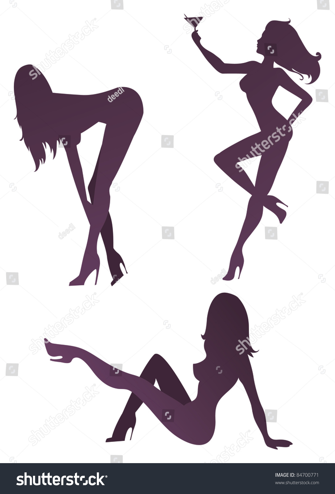 sexy silhouettes stock vector 84700771   shutterstock