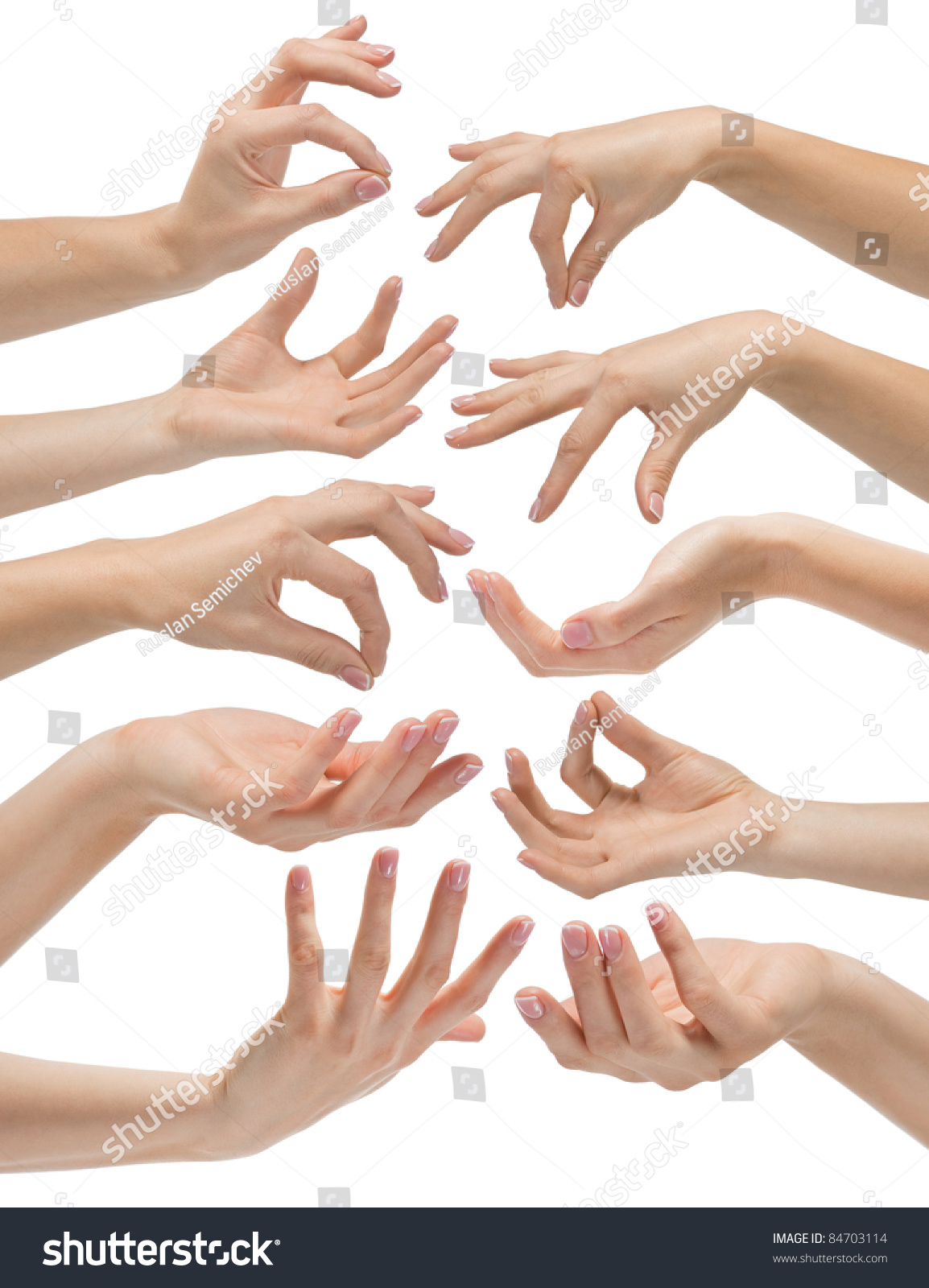 hand gestures set white background stock photo edit now 84703114