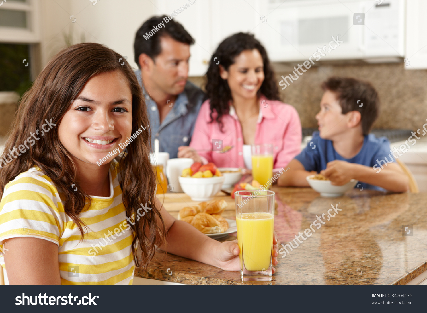 Mexican Family Eating