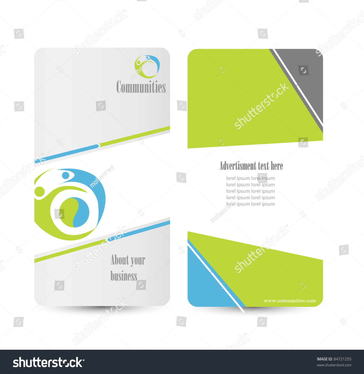 classy brochure design - elegant business brochure design stock vector illustration