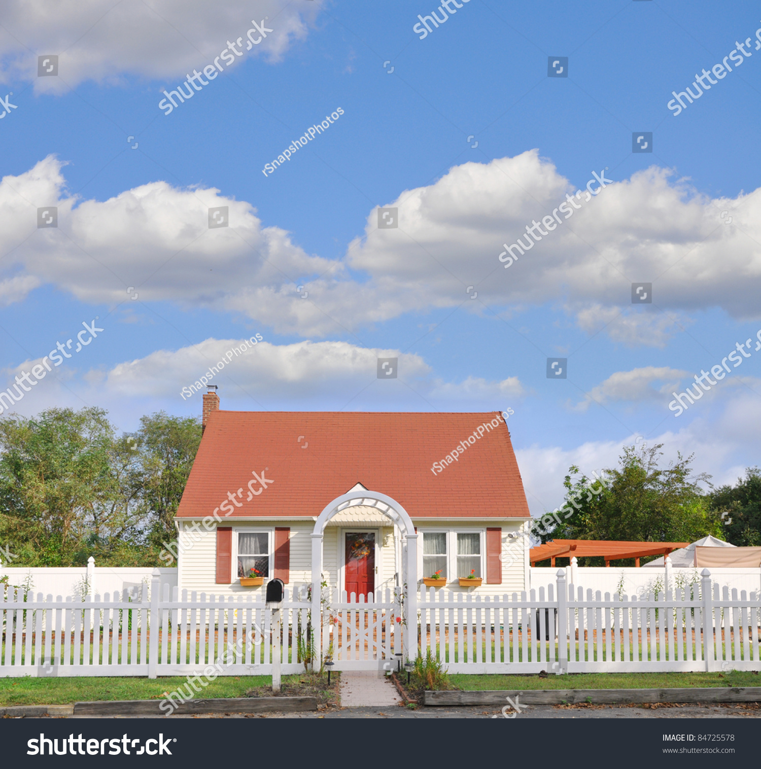 suburban middle class country bungalow cottage stock photo