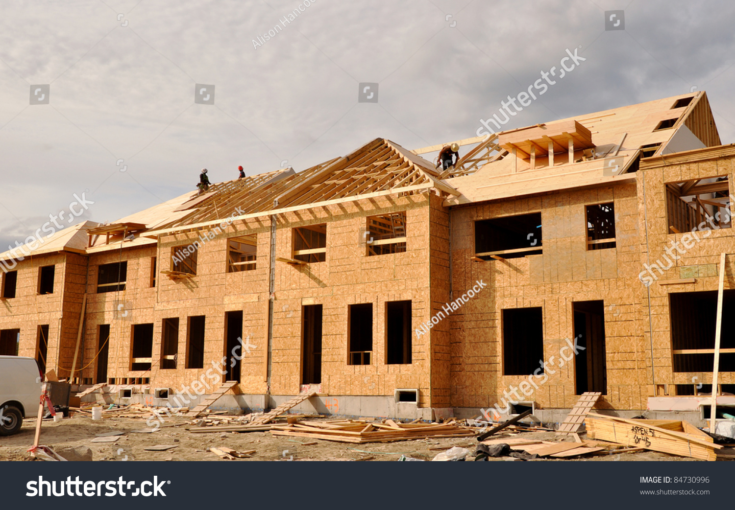 Building site new homes under construction stock photo for Home construction websites
