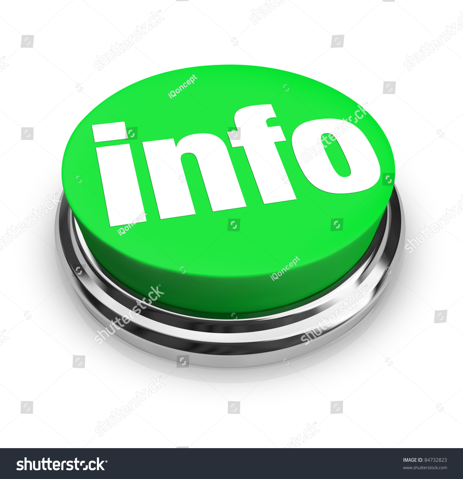 A Green Button With The Word Info Representing A Way To
